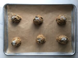 espresso almond oat cookie
